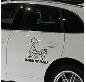 2019 Car Decorative Making My Family Auto Decals Cartoon