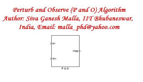 perturb and observe algorithm flowchart perturb and observe p o algorithm for pv mppt file