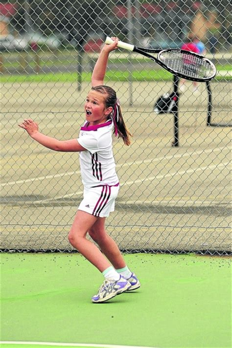 tennis swings juniors swing into tennis the wimmera mail times