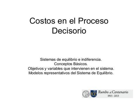 costos bsicos slideshare costos en el proceso decisorio