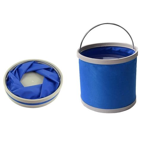 Folding Fishing Waterproof Pail 11l Ember Lipat Blue folding fishing waterproof pail 11l ember lipat