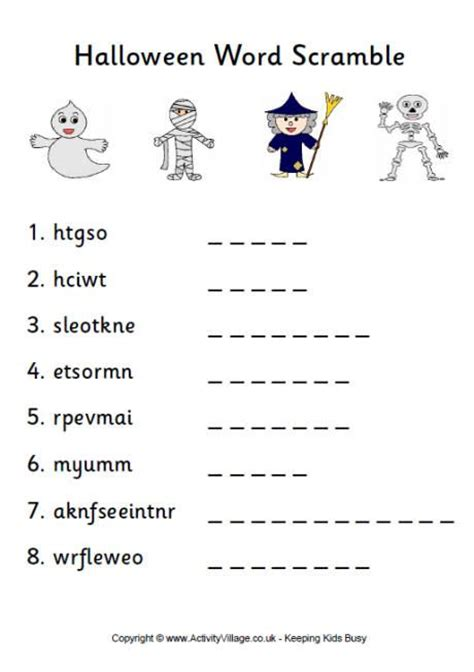 printable animal word scramble halloween word scramble 1 pdf link teach arts crafts