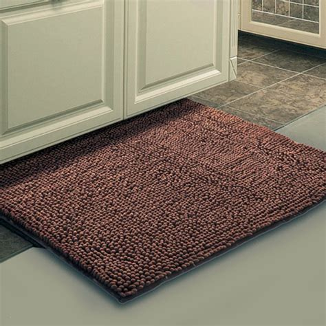 brown bath rugs aliexpress buy brown mat thick shaggy soft rug large size bath mat floor carpet footcloth