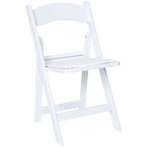 white resin folding chairs commercial quality