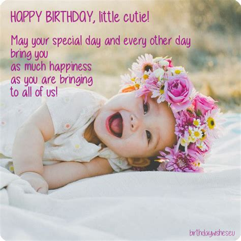 Baby Birthday Quotes First Bday Wishes Top 25 Birthday Wishes For One Year Old