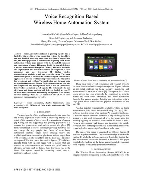 voice recognition based wireless home automation system