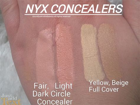 Nyx Coverage Concealer nyx circle concealer review swatches of shades