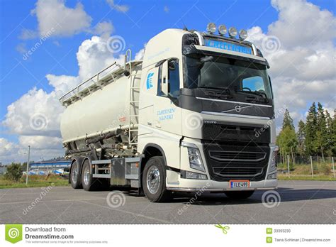 volvo transport truck volvo tank truck for food transport editorial image