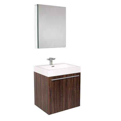 modern walnut bathroom vanity fresca alto walnut modern bathroom vanity w medicine