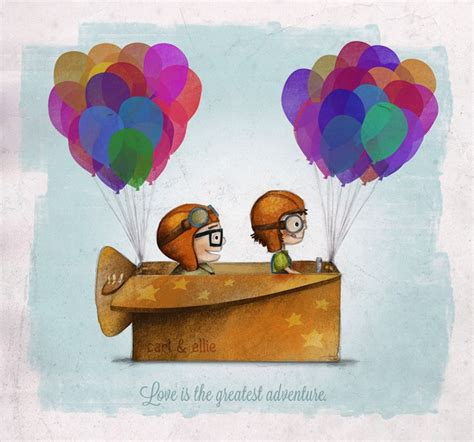 imagenes de love machine charming pixar up inspired fan art