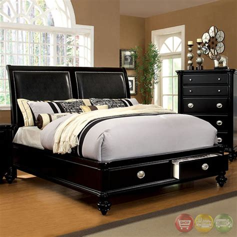 laguna bedroom set laguna modern black platform bedroom set with padded leatherette headboard cm7652