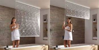 pull ceiling mounted shower curtains craziest gadgets