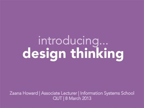 design thinking slideshare introducing design thinking