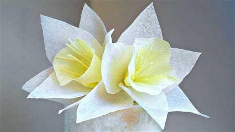 Easy Arts And Crafts With Paper - daffodils narcissus crepe paper flower for decoration arts