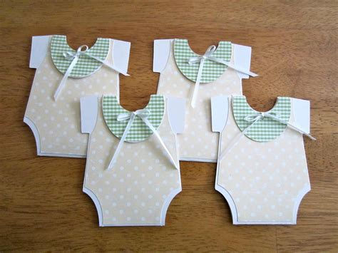 Handmade Baby Shower Invites - unique handmade baby shower invitation onesie shape