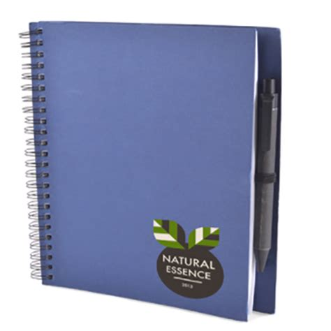 Green Recycled Polypropylene A5 Wiro Notebook - a5 recycled card notebook and pen personalised wiro