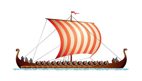 long boats cartoon the gallery for gt viking longships clipart