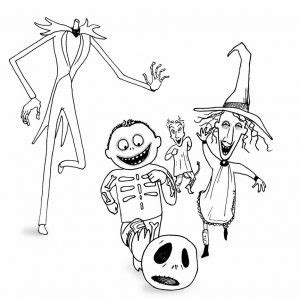 nightmare before christmas characters coloring pages nightmare before christmas coloring pages kids quotes