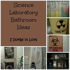 science themed bathroom chemistry themed bathroom trash can did it pinterest
