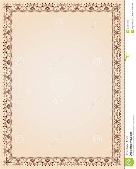 frame border template decorative border frame certificate template 4 stock