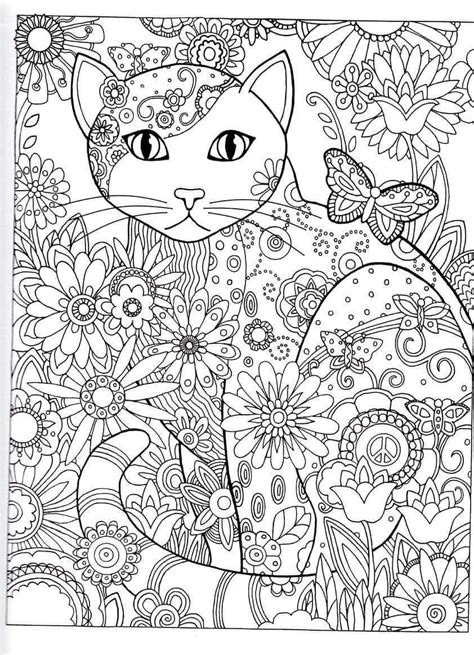 free printable coloring pages of cats for adults cat abstract doodle zentangle coloring pages colouring