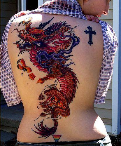 red dragon tattoo umea old school dragon on back tattoo back tat ref