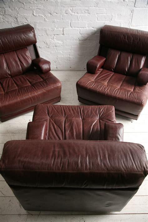 Tetrad Leather Sofa 1970s Modular Sofa Chairs By Tetrad Uk And Chrome