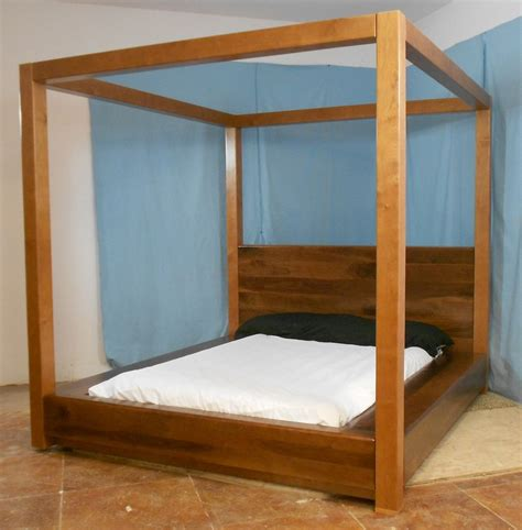 how to make a canopy bed frame 1 745 00 danish modern canopy bed for the home
