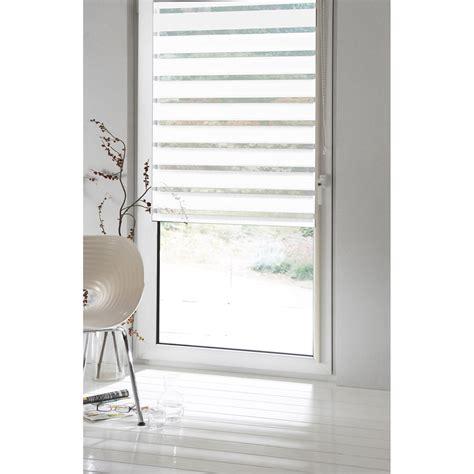 Store Jour Et Nuit Blanc by Store Enrouleur Jour Nuit Inspire Blanc Blanc N 176 0 80 X