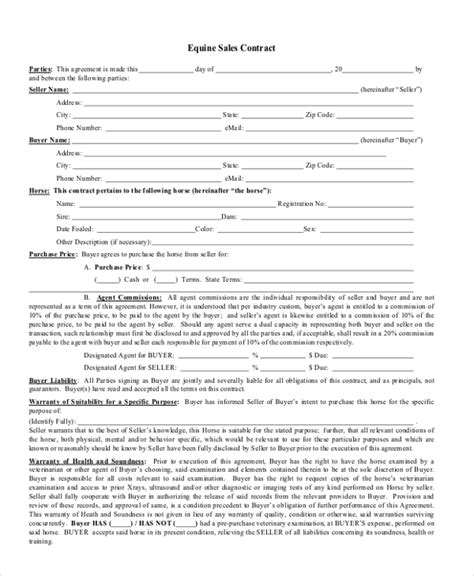 sales contract sle sales contract form 9 free documents in pdf