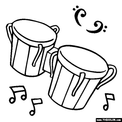 coloring pages percussion instruments 100 free musical instrument coloring pages color in this