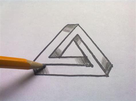 ilusiones opticas hechas a mano como se dibuja tri 225 ngulo imposible ilusi 243 n 211 ptica youtube