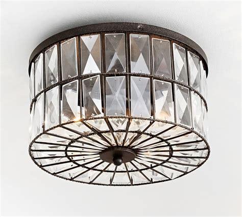 pottery barn flush mount light adeline flushmount lights condo
