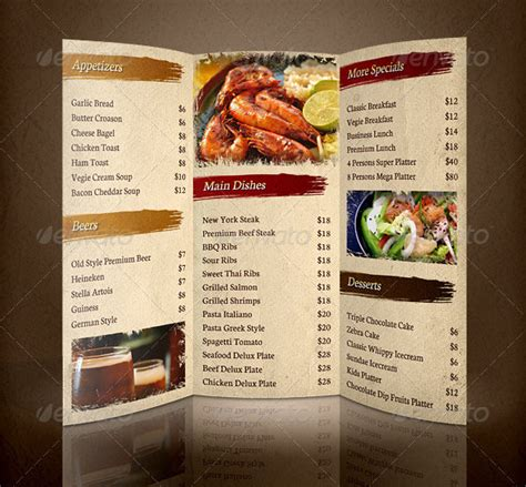 Menu Brochure Template Free by 30 Restaurant Brochure Templates Free Psd Eps Ai