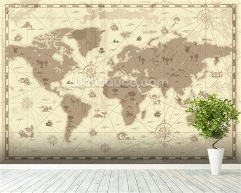 ancient wall murals ancient world map wallpaper wall mural wallsauce