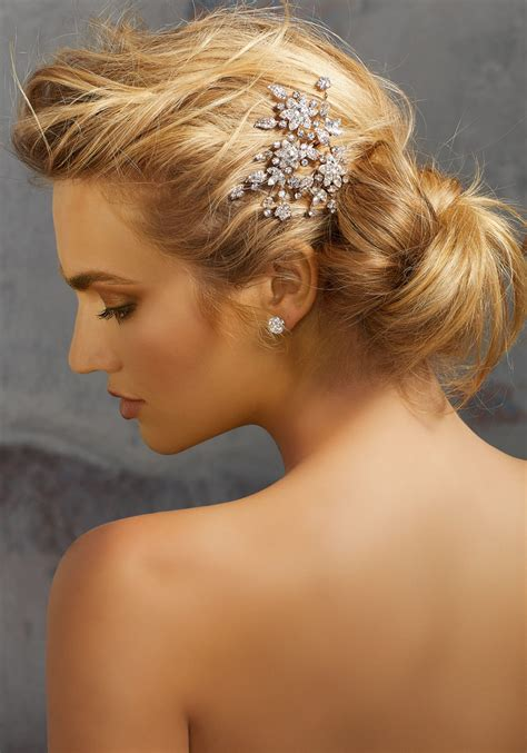 Rhinestone Hair Clip rhinestone hair clip style hp2067 morilee