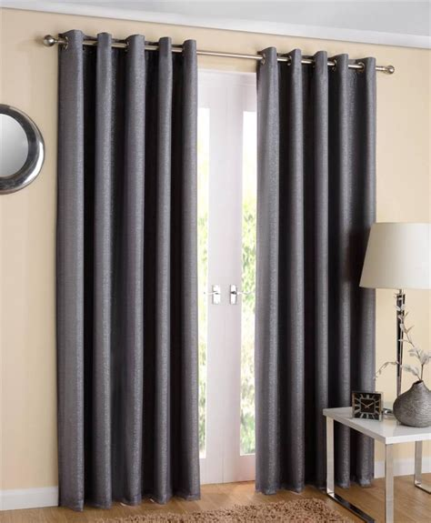 thermal lined eyelet curtains 1 pair santiago sparkle lined thermal voile curtains