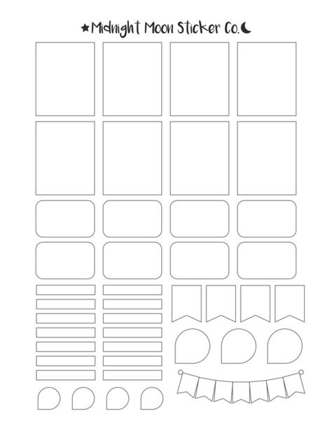 Printable Planner Sticker Template | mixed template printable template vertical erin condren