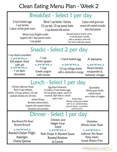 printable clean eating recipes clean eating meal plan clean eating meals meal planning
