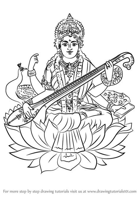 image gallery saraswati drawing