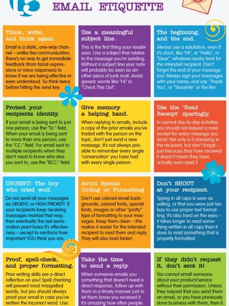 email etiquette pdf email etiquette infographics visual ly