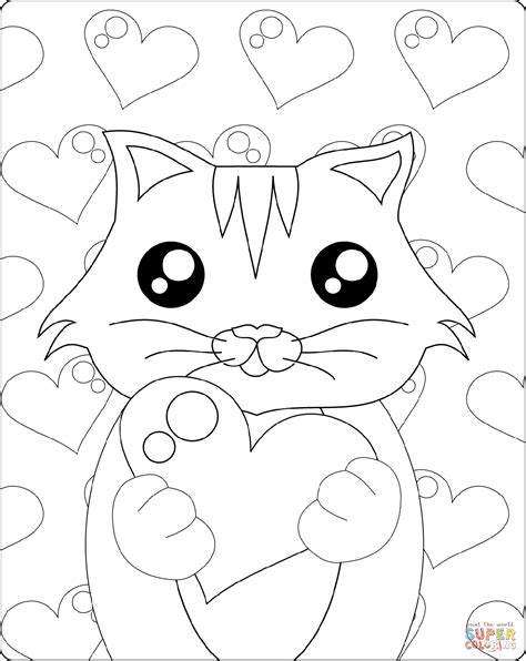 kitten coloring page kitten with coloring page free printable coloring