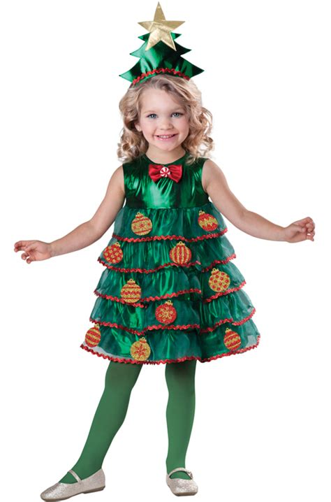 check out the deal on lil christmas tree toddler costume
