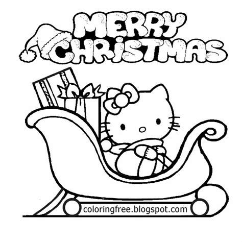 hello kitty santa coloring page free coloring pages printable pictures to color kids