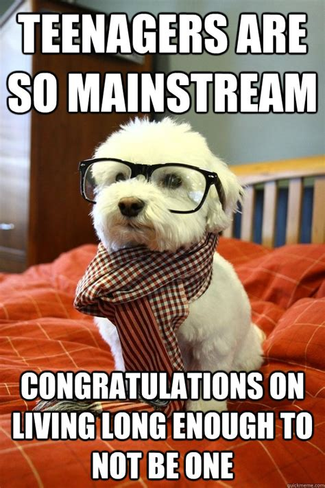 Hipster Dog Meme - i was cute before it was mainstream hipster puppy