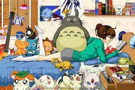 otaku bedroom anime art anime otaku nerd reading books