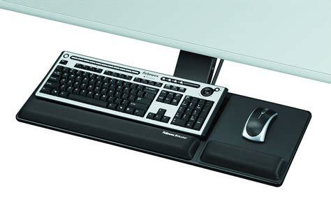 fellowes office suites under desk keyboard manager black 9140303 fellowes designer suites compact keyboard tray black by