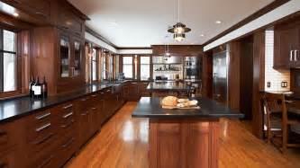 Arts amp crafts remodel kitchen across eating amp prep islands