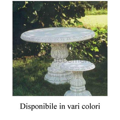 tavoli da giardino in pietra tavoli in pietra da esterno diam cm110x74h nei vari colori