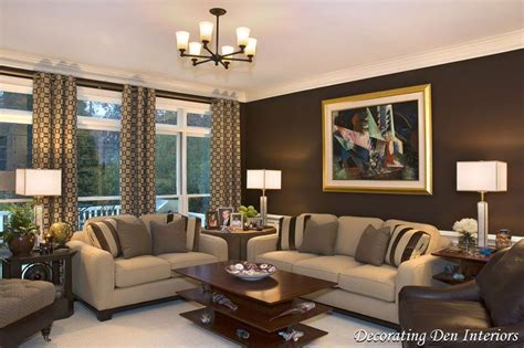 sofas by design lake oswego chocolate brown wall paint color in living room